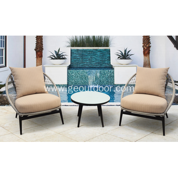 3 pcs new design rope round chair