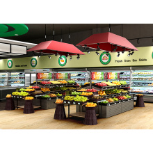 New Fashion Design for Double Sided Fruit Shelves Large Capacity Supermarket Fruit And Vegetable Shelf supply to Tanzania Wholesale