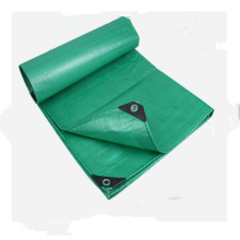 Green color PE tarpaulin for storage