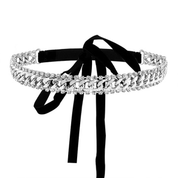 Crystal Rhinestone Velvet Choker Necklace For Women Jewelry
