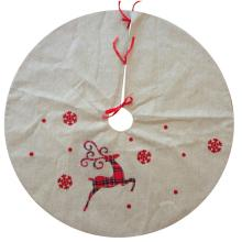 Christmas reindeer pattern burlap tree skirt