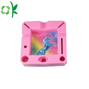 Cool Mixing color Silicone Ashtray Food Grade Case