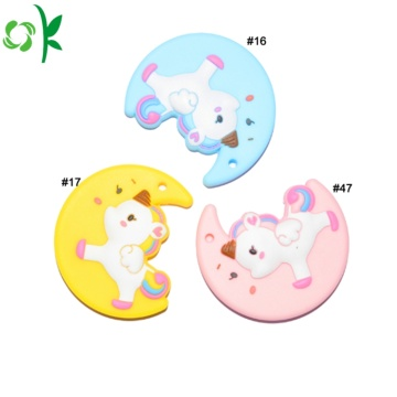 Food Grade Unicorn Shape Silicone Teether for Baby