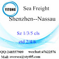 Shenzhen Port LCL Consolidation To Nassau