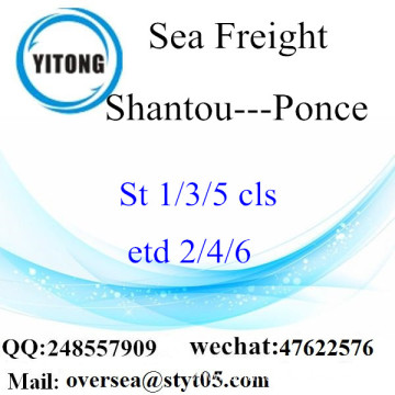 Shantou Port LCL Consolidation To Ponce