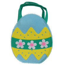 Felt fabric Easter Bag with 3D egg modeling
