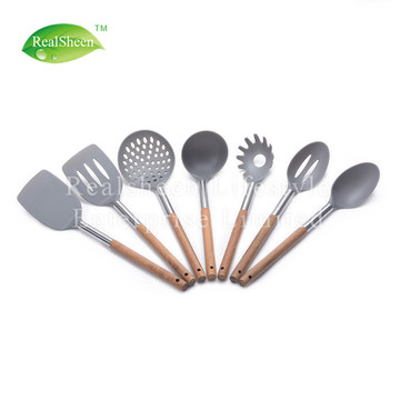 Nylon Tools With Stainless Steel Acacia Wood Handle