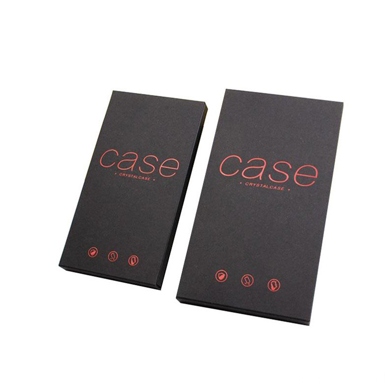 Black Cardboard Mobile Phone Case Packaging Box
