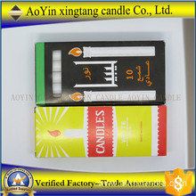 38g white candle Ghana white taper candles dripless