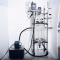 High vacuum chemical 50l jacketed glass reactor