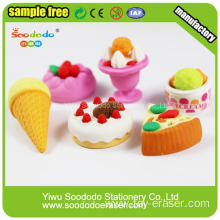 small fast selling items sundae shaped erasers for promotional