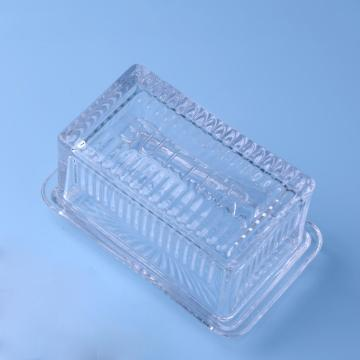 Wholesale Clear Glass Butter Dish With Lid Cover