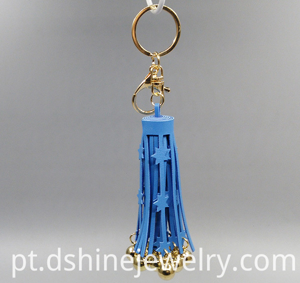 PU Leather Tassel Cute Key Chains