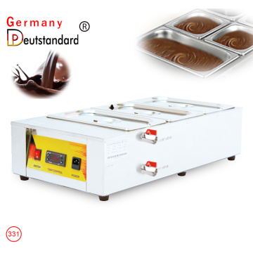 Chocolate Melting Pot Digital Control Chocolate Tempering Machine  3 Tanks