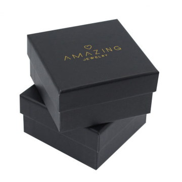 Excellent Black Cardboard Jewelry Paper Pendant Box