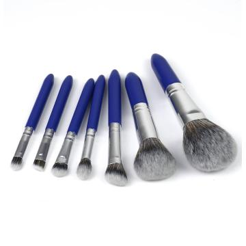 7pcs blue fashion makeup brush travel sets