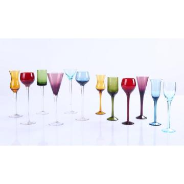 Long Stem Liqueur Shot Glasses Set-wholesale various shape colored wine glasses goblets