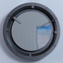 12 Inch Decorative Wall Clock with Mirror Face