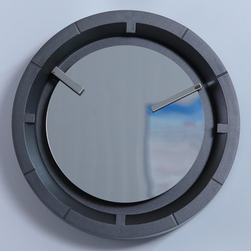 Cheapest Factory for Mirror Clock With Lighted Hand 12 Inch Decorative Wall Clock with Mirror Face export to Gibraltar Supplier