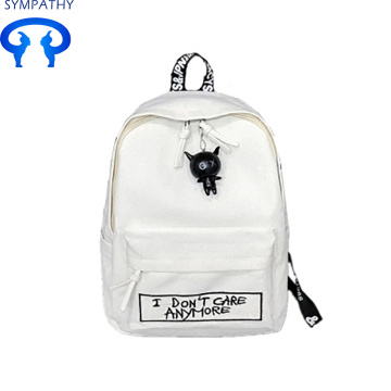 Campus hippack simple canvas personality backpack.