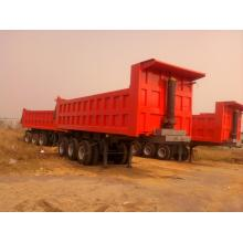 China for Square Dump Trailer Sinotruk Dump Semi Trailer Truck 60 Tons 25-45CBM supply to Zambia Factories