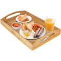 Rectangle Bamboo Butler Serving Tray With Handles