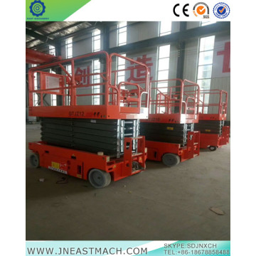 12m Cheap Mobile Battery Power Hydraulic Scissor Lift