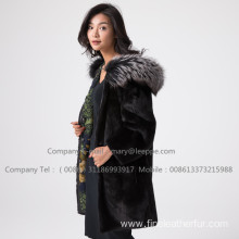 Hooded Women Kopenhagen Reversible Mink Fur  Coat
