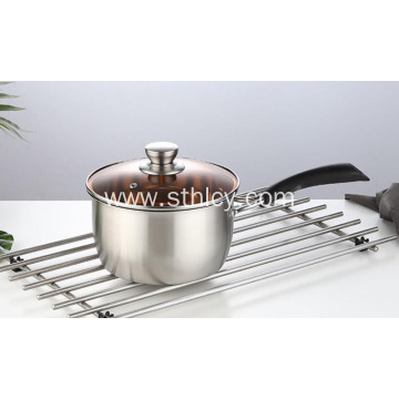 Polished Thick Double Ear Pot Stainless Steel Pot