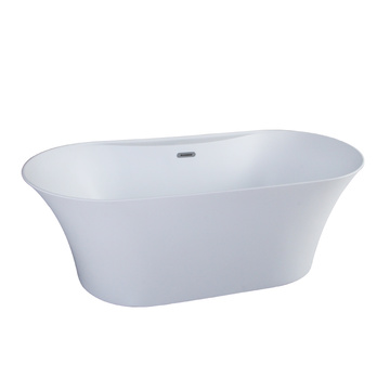 Acrylic Matte White Freestanding Bathtub like Artificial Stone