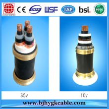 Big discounting for Three Core Aluminium Conductor PE Ultra Violet Stabilized Middle Voltage Electric Cable and wires Black export to Pitcairn Supplier