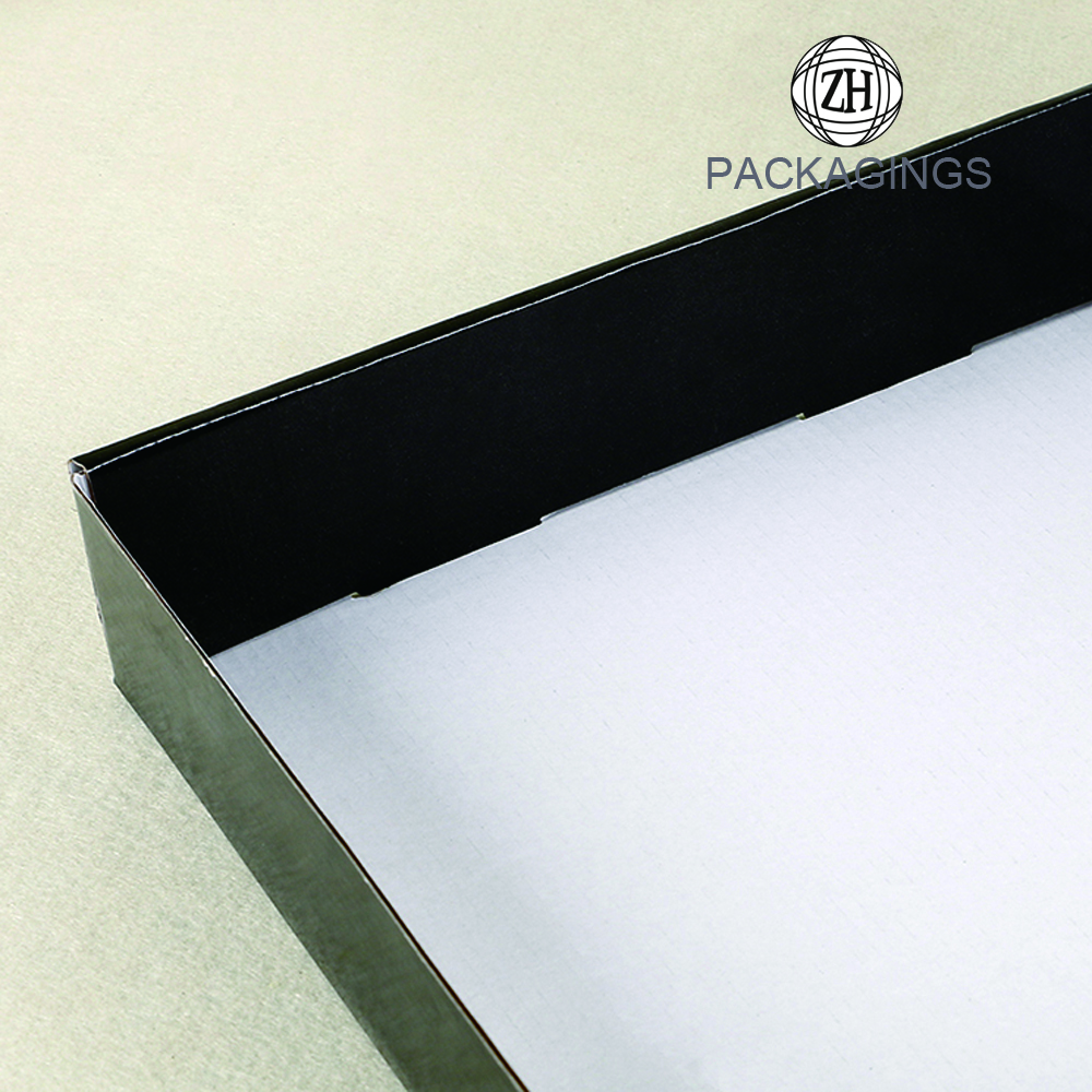 Collapsible custom logo print black mailer box