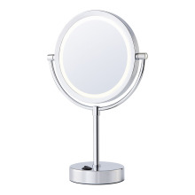 Two-sided battery standing mirror