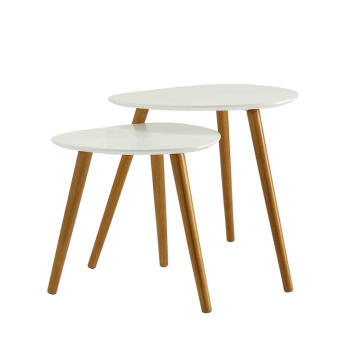 MDF Round Coffee Table End Side Table Snack Table
