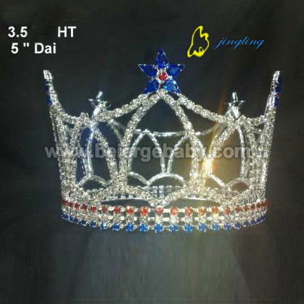 Beauty full round star custom patriotic crowns