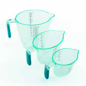 3PCS Nesting Stackable Plastic Measuring Cups With Spout