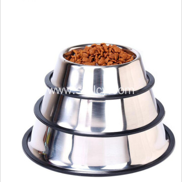 Stainless Steel Break Resistant Dog Bowl with Non-slip
