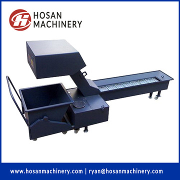 chain type hinged belt scrap swarf chips conveyor