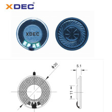 Mylar cone 20mm 8ohm 0.5w doorbell speaker