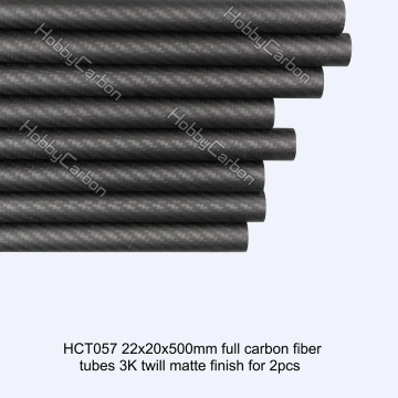 3k 22x20x500mm twill matte full carbon fiber tubes