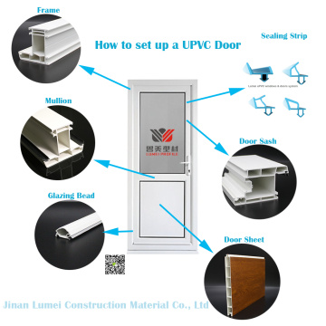 Plastic UPVC Door Profile Frames