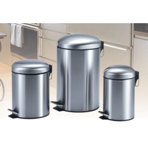 Cylinde Stainless Steel Step Dustbin