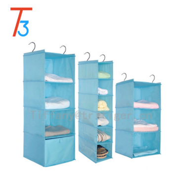 Foldable closet organizer factory 6 shelf hanging wardrobe organizer