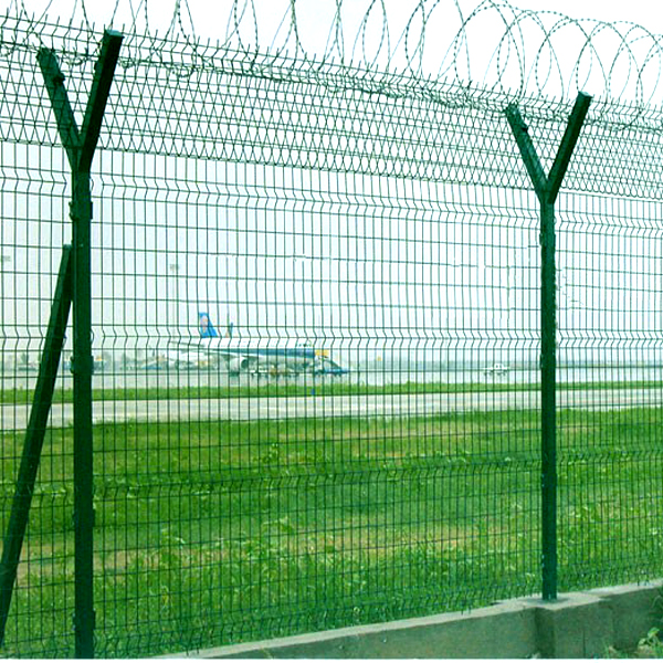 airport metal coated wire mesh fence