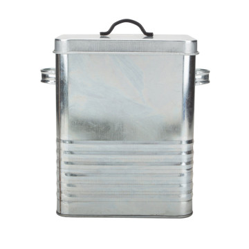 Galvanized steel dog food container