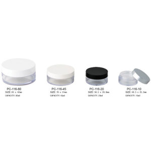 Round Cosmetic Empty Loose Powder Container
