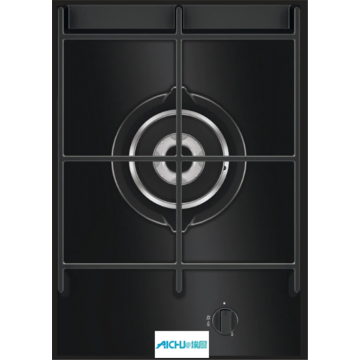Black Glass Gas Hob 36cm 1 Burner