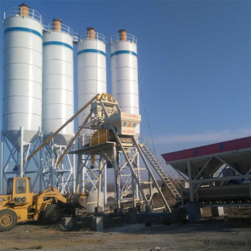 Electrical advanced 75m3 concrete batching plant HZS75