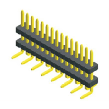High Quality for Pin Header Connector,1.27Mm Male Header,1.27Mm Male Header Pins Manufacturers and Suppliers in China 1.27mm Pitch Single Row Double Plastic Connector supply to Somalia Exporter