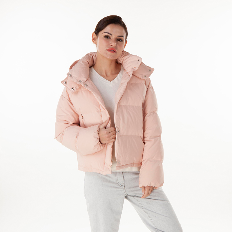 Pink down jacket